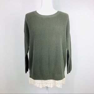 Pins & Needles Small Cable knit Pullover Sweater